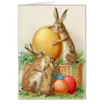 Tarjeta de pascua de los huevos de Pascua del cone