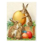 Tarjeta de pascua de los huevos de Pascua del cone Postal