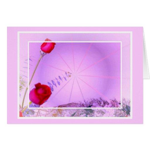 Tarjeta de pascua de los rosas rojos