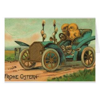 Tarjeta de pascua del alemán del vintage