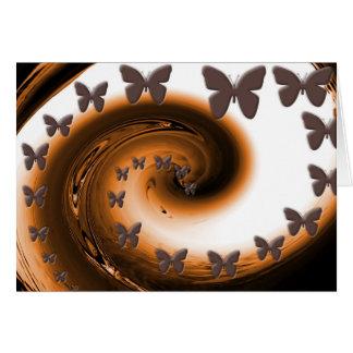 Tarjeta de pascua del chocolate con receta