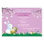Tarjeta de pascua del conejito de la primavera comunicados personalizados