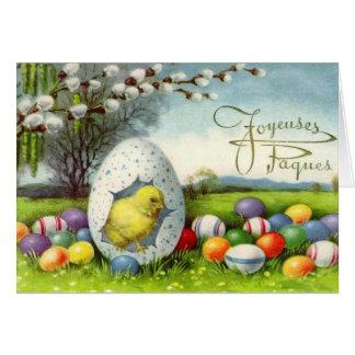 Tarjeta de pascua del francés de Joyeuses Pâques