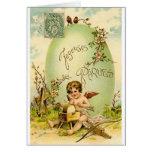 Tarjeta de pascua del francés del Victorian