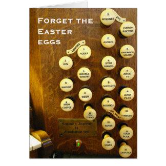 Tarjeta de pascua del órgano