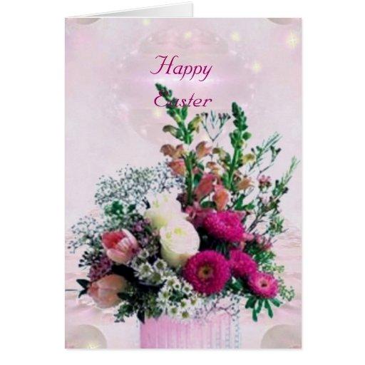 Tarjeta de pascua del ramo de las flores
