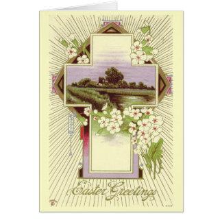 Tarjeta de pascua del vintage