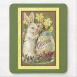 Tarjeta de pascua del vintage (23) alfombrillas de raton
