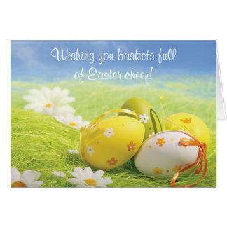 Tarjeta de pascua - deseándole el fullof Pascua de