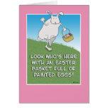 Tarjeta de pascua divertida: Conejito con los