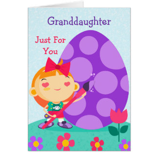 Tarjeta de pascua feliz a mi nieta
