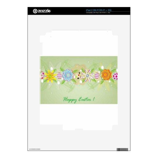 Tarjeta de pascua feliz calcomanía para el iPad 2