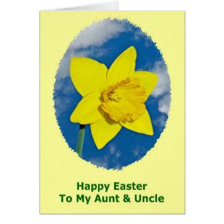 Tarjeta de pascua feliz para la tía y el tío