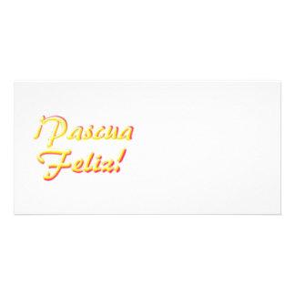 Tarjeta de pascua feliz tarjeta fotográfica