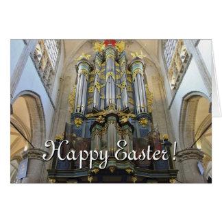 Tarjeta de pascua holandesa del órgano