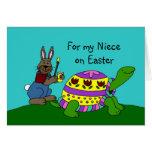 Tarjeta de pascua personalizada con una tortuga