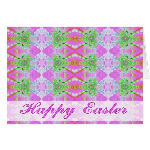 tarjeta de pascua rosada del fractal