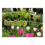 Tarjeta de pascua - tulipanes