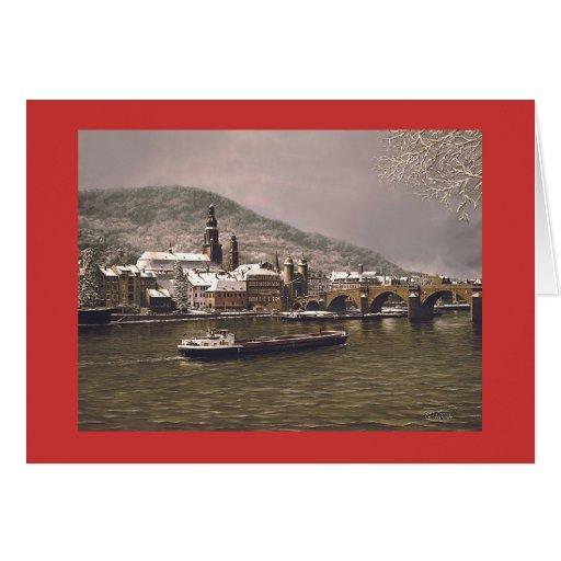 """Tarjeta de Paul McGehee """"invierno en Heidelberg"""""""