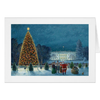 """Tarjeta de Paul McGehee """"navidad en Washington"""""""