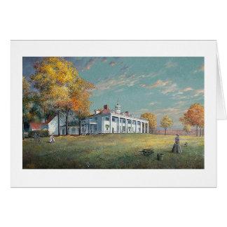 "Tarjeta de Paul McGehee ""otoño en Mount Vernon"""