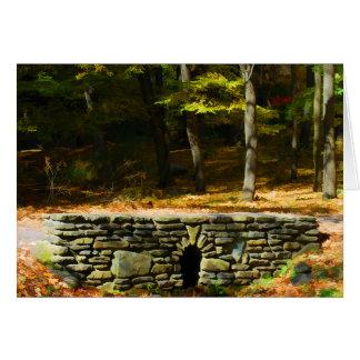 Tarjeta de piedra del puente