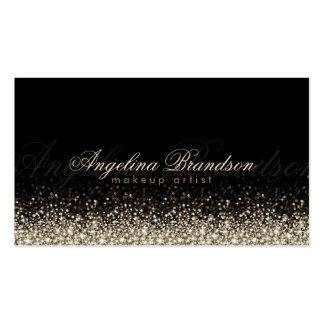 Tarjeta de plata brillante del negro del damasco tarjeta de negocio
