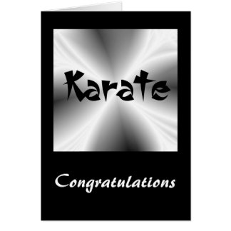 Tarjeta de plata de la enhorabuena del karate