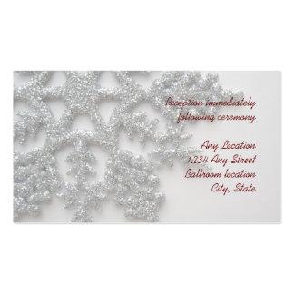 Tarjeta de plata de la recepción nupcial del copo  tarjetas de visita