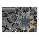 Tarjeta de plata del día de fiesta de la estrella