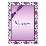 Tarjeta de plata y púrpura del recinto de los luna plantillas de tarjetas personales