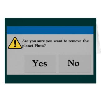 Tarjeta de Plutón del planeta