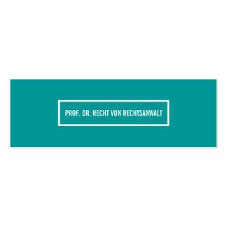 Tarjeta de presentación angosta tarjetas de negocios