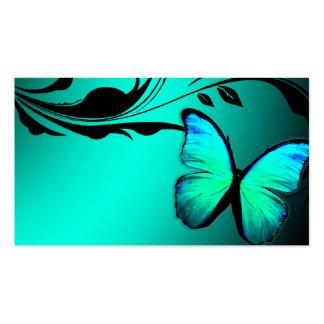 Tarjeta de presentación brillante de 311 azules tu tarjeta de negocio