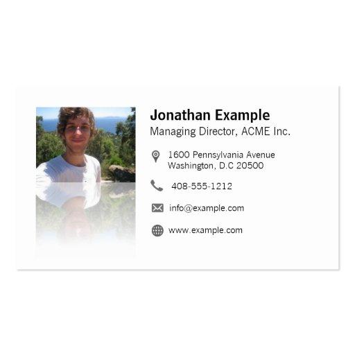 Tarjeta de presentación con QR-código & efecto Tarjetas De Visita