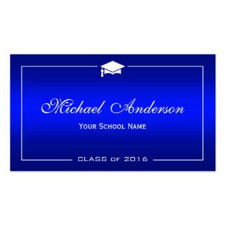 Tarjeta de presentación de la graduación - tarjetas de visita