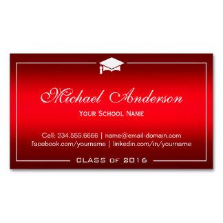 Tarjeta de presentación de la graduación - tarjetas de visita magnéticas (paquete de 25)