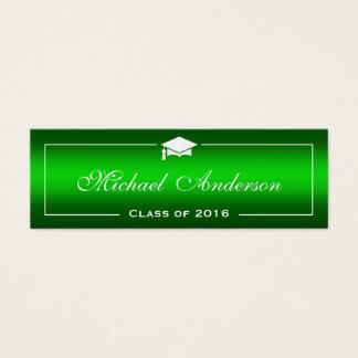 Tarjeta de presentación de la graduación - tarjetas de visita mini