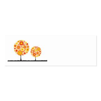 Tarjeta de presentación del lugar del boda - flor tarjetas de visita mini