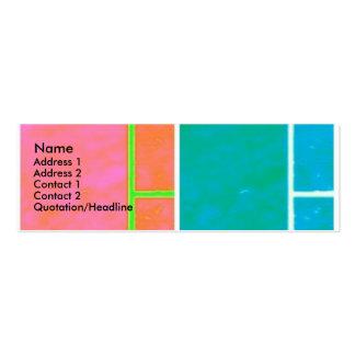 tarjeta de presentación: estallido tarjetas de visita mini