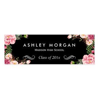Tarjeta de presentación floral imponente de la tarjetas de visita mini