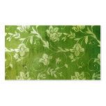 tarjeta de presentación floral verde del vintage 3 plantilla de tarjeta de visita