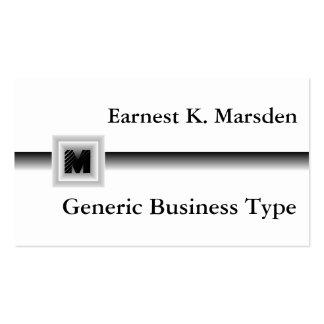 Tarjeta de presentación genérica del monograma tarjetas de visita