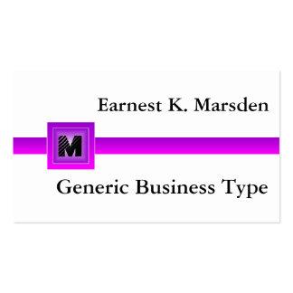 Tarjeta de presentación genérica púrpura del tarjetas de visita