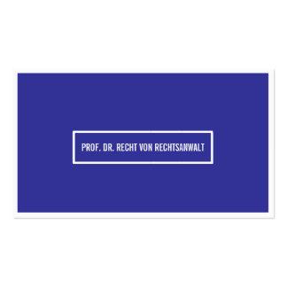 Tarjeta de presentación punto azul tarjetas personales