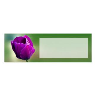 Tarjeta de presentación púrpura del lugar del boda tarjetas de visita mini