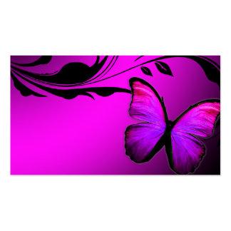 Tarjeta de presentación rosada y púrpura de la tarjetas de visita