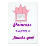 Tarjeta de princesa Crown Birthday Thank You Invitación 12,7 X 17,8 Cm