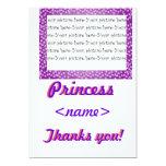 Tarjeta de princesa Mini Hearts Thank You Invitación 12,7 X 17,8 Cm