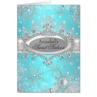Tarjeta de princesa Winter Wonderland Thank You
